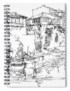 Old Houses And Boats Spiral Notebook
