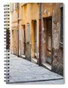 Old Houses On Narrow Street In Villefranche-sur-mer Spiral Notebook