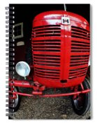 Old International Harvester Tractor Spiral Notebook