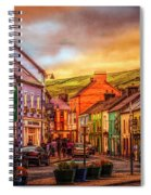 Old Irish Town The Dingle Peninsula Late Sunset Spiral Notebook