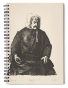 Old Irish Woman, First State By George Bellows Spiral Notebook