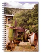 Old John Deer Tractor Spiral Notebook