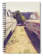 Old Junkyard Cars Chevy And Ford Utah Spiral Notebook