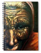 Old Lady - Map Of Life Spiral Notebook