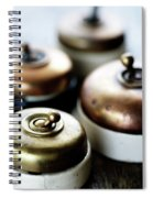 Old Light Switches Spiral Notebook