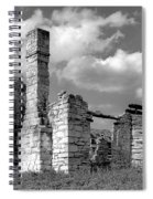 Old Limestone House Ruins Spiral Notebook