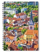 Old Ljubljana Cityscape Aerial View Spiral Notebook