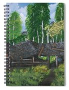 Old Log Cabin And   Memories Spiral Notebook