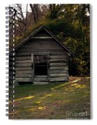Old Log Cabin Spiral Notebook