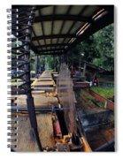 Old Logging Saw Spiral Notebook