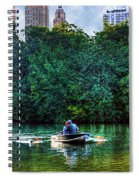 Old Love And Central Park Lake Spiral Notebook