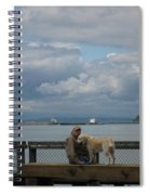 Old Man And His Dog Spiral Notebook