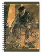 Old Man At The Fireside Spiral Notebook