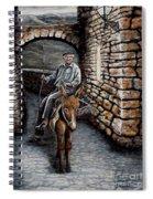 Old Man On A Donkey Spiral Notebook
