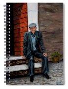 Old Man Waiting Spiral Notebook