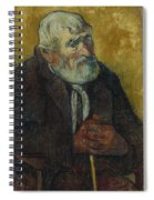 Old Man With A Stick Spiral Notebook