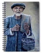 Old Man With His Stones Spiral Notebook