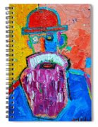 Old Man With Red Bowler Hat Spiral Notebook