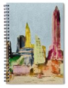 Old Manhattan Spiral Notebook