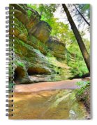 Old Man's Gorge Trail And Caves Hocking Hills Ohio Spiral Notebook