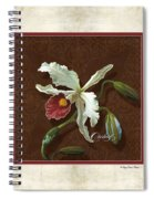 Old Masters Reimagined - Cattleya Orchid Spiral Notebook