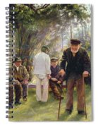 Old Men In Rockingham Park Spiral Notebook