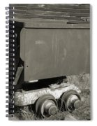 Old Mining Cart Spiral Notebook