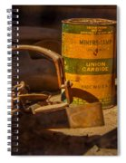 Old Mining Equipment Spiral Notebook