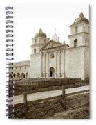 Old Mission Santa Barbara, Cal Circa 1895 Spiral Notebook