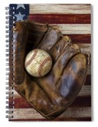 Old Mitt And Baseball Spiral Notebook