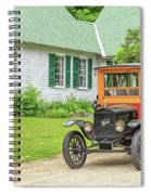 Old Model T Ford In Front Of House Spiral Notebook