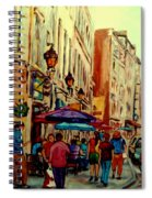 Old Montreal Cafes Spiral Notebook