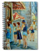 Old Montreal Street Scene Spiral Notebook
