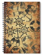 Old Nautical Parchment Spiral Notebook