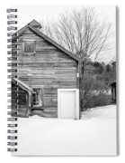 Old New England Barns In Winter Spiral Notebook