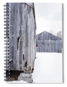 Old New England Barns Winter Spiral Notebook
