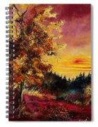 Old Oak At Sunset Spiral Notebook