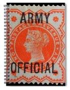 Old Orange Halfpenny Stamp  Spiral Notebook