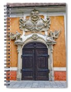 Old Ornate Door At The Cesky Krumlov Castle At Cesky Krumlov In The Czech Republic Spiral Notebook