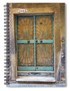 Old Ornate Wrought Iron Door In Venice, Italy  Spiral Notebook