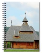 Old Orthodox Wooden Church On Hill Spiral Notebook