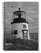 Old Owls Head Lighthouse Spiral Notebook