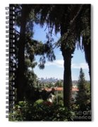 Old Palm Trees And Downtown Los Angeles Spiral Notebook