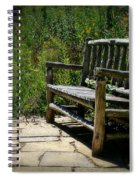 Old Park Bench Spiral Notebook