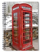 Old Phone Booth Spiral Notebook