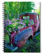Old Pickup Truck As Flower Bed Spiral Notebook