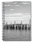 Old Pier Provincetown Harbor Cape Cod Spiral Notebook