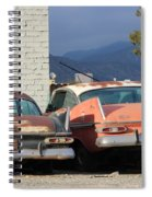 Old Plymouths With Mountain View  Spiral Notebook