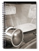 Old Police Car Siren Spiral Notebook