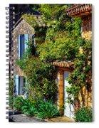 Old Provencal Village Street Spiral Notebook